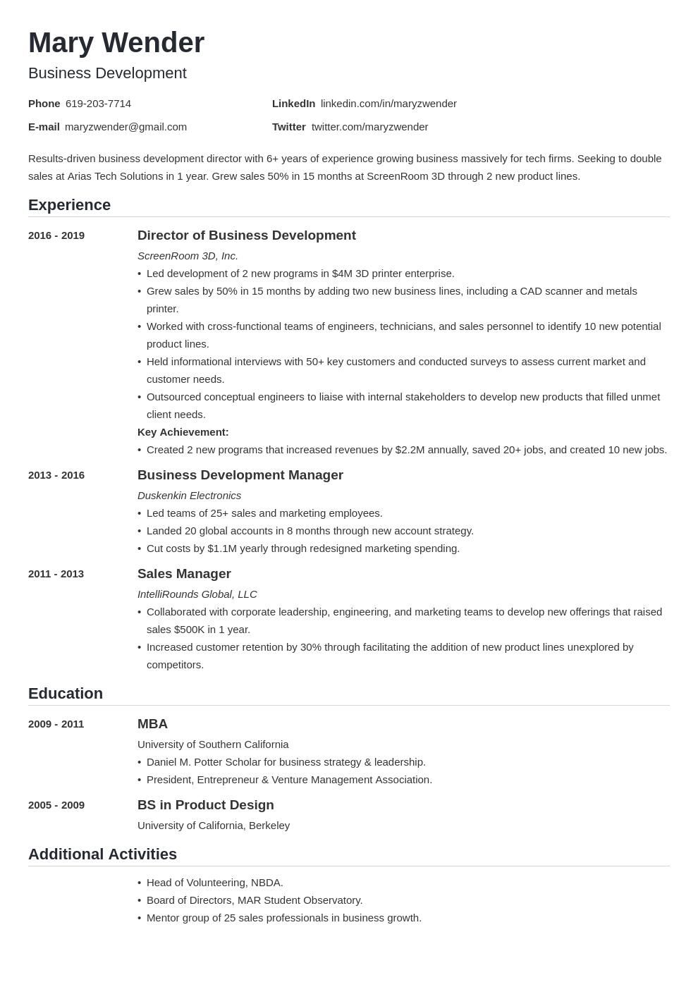 business development template nanica uk