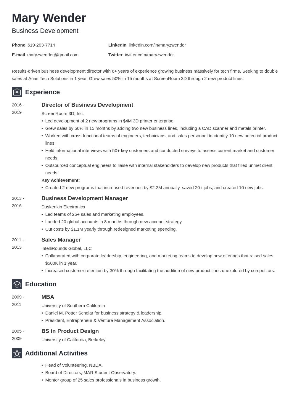 business development template newcast uk