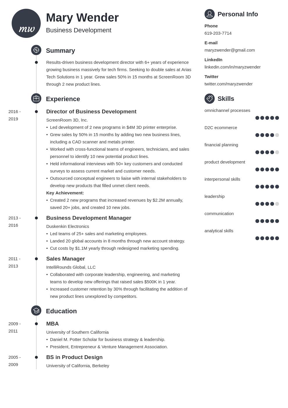 business development template primo uk