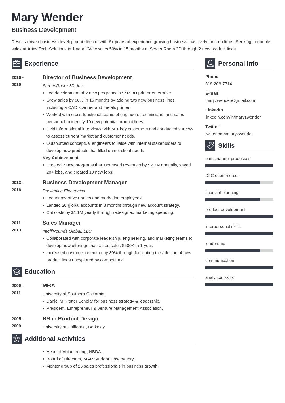 business development template vibes uk