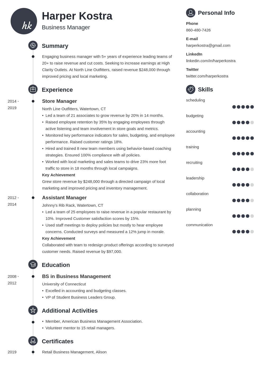 business manager template primo uk