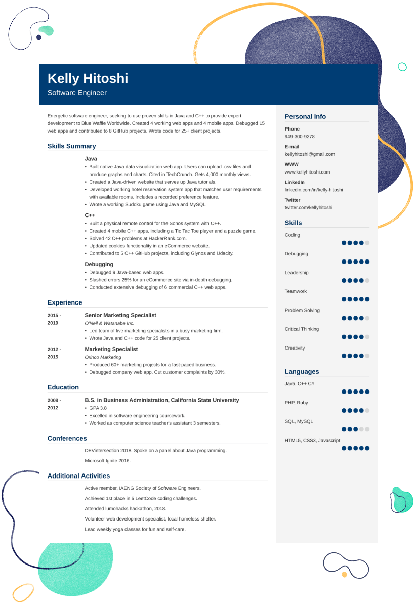 Career Change Resume Sample 25 Examples And Writing Tips