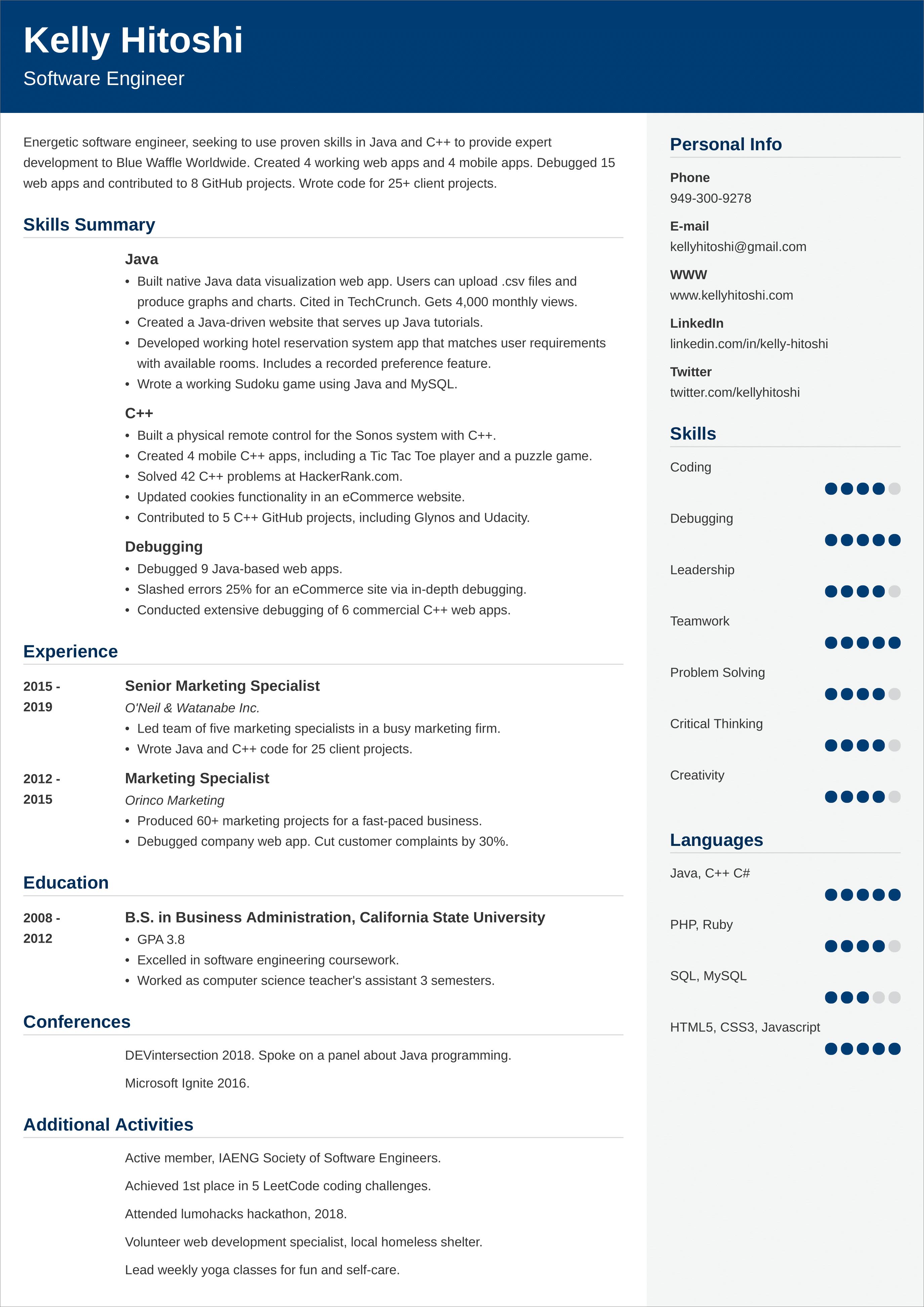 career change resume example  tips  u0026 samples
