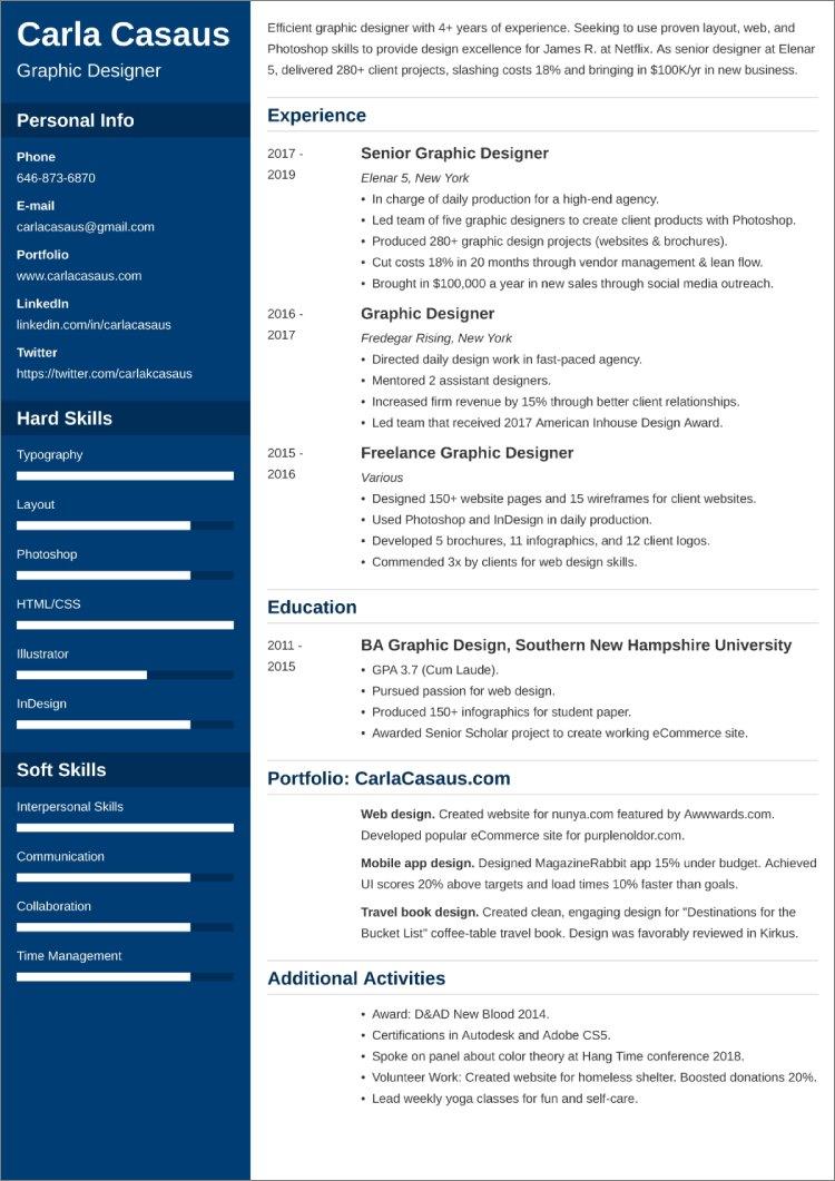 sample resume templates