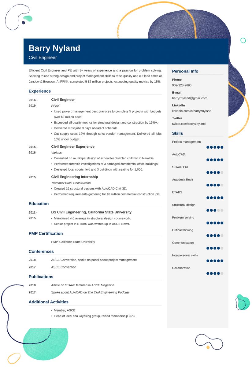 civil engineer resume sample u201420  examples and writing tips