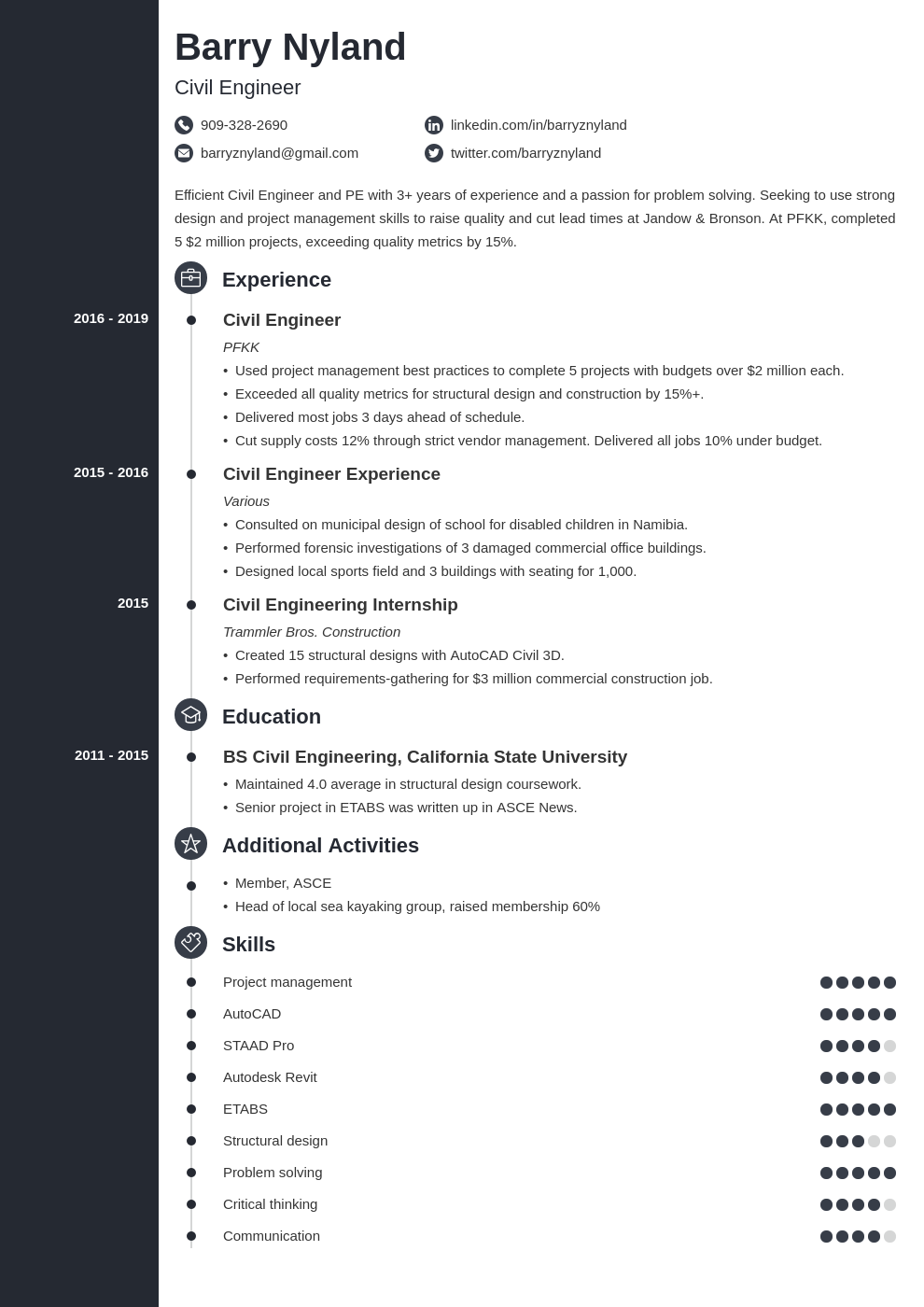 civil engineer template concept
