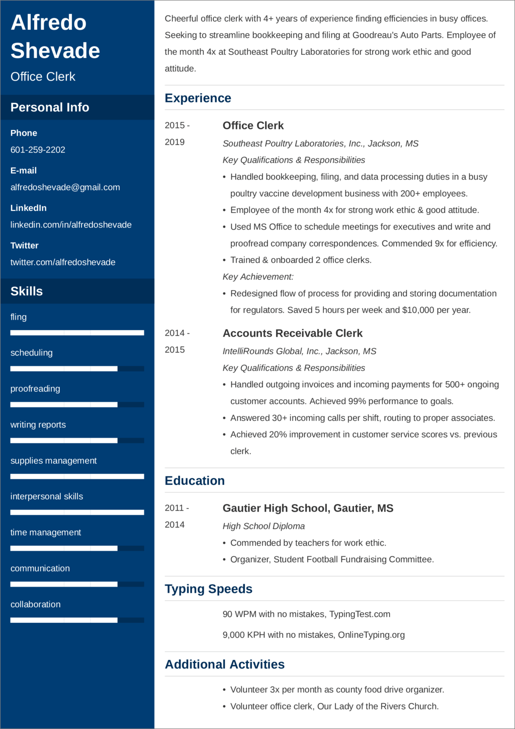Office Clerk Resume—Examples and 25+ Writing Tips