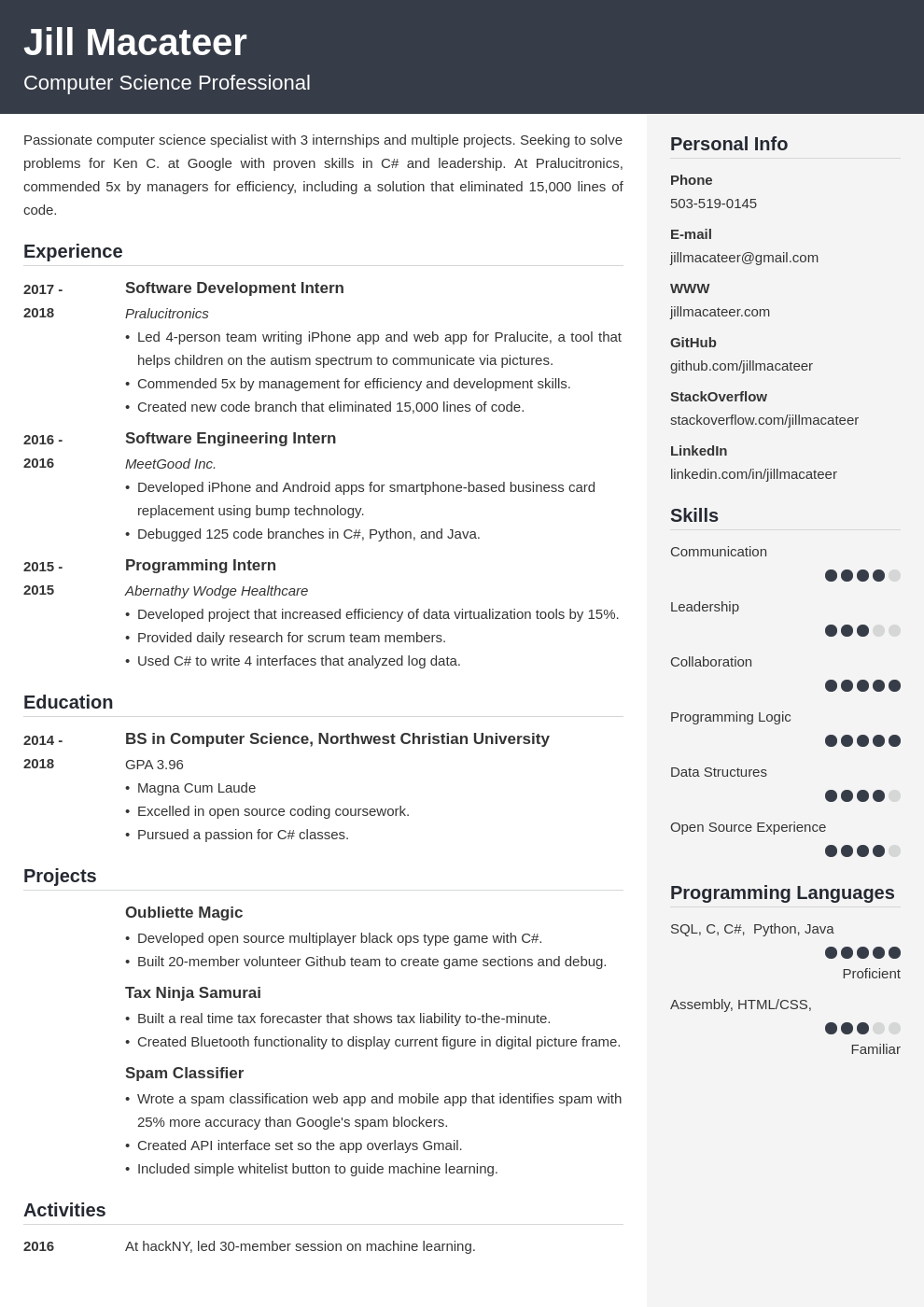 computer science template cubic uk