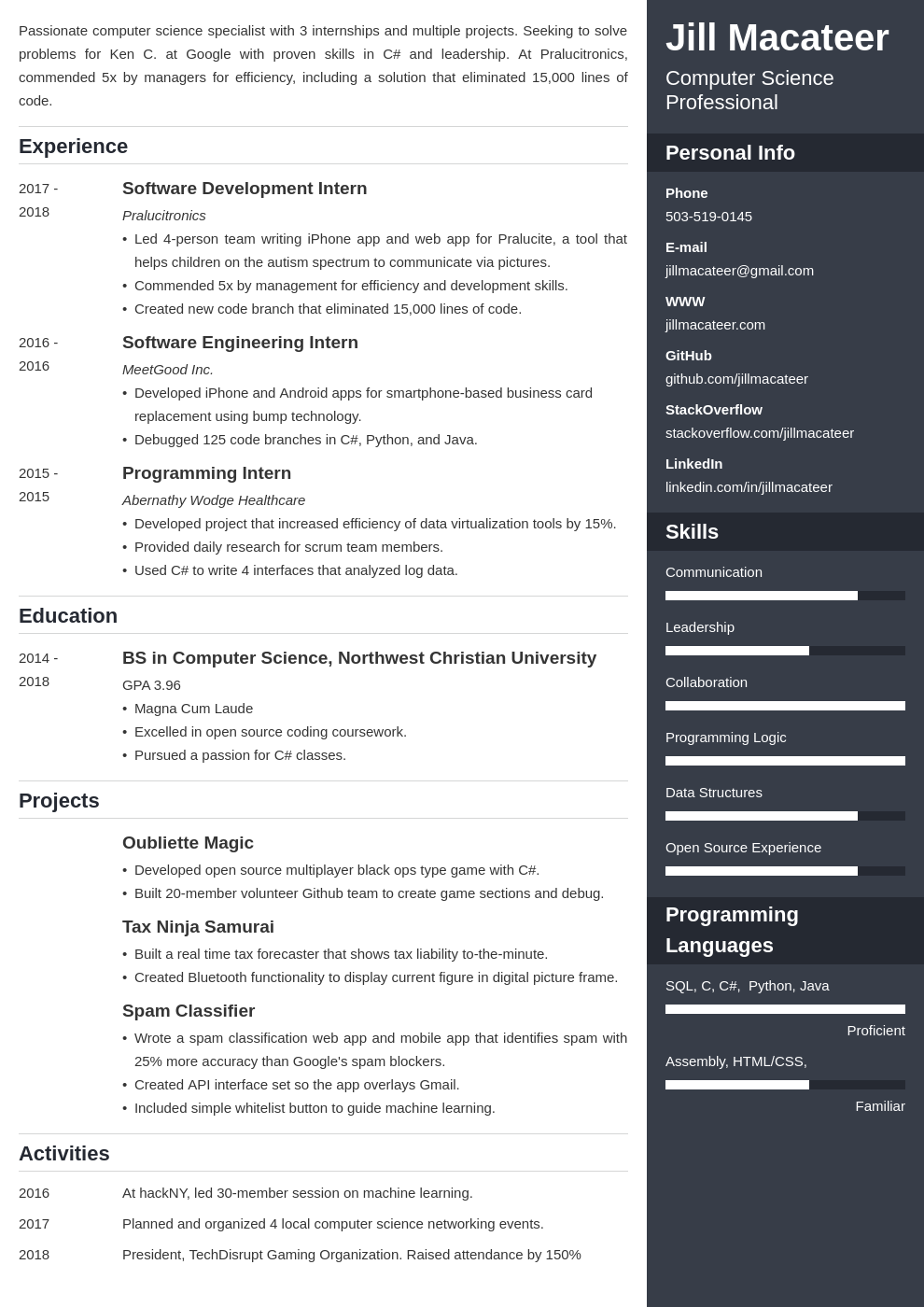 computer science template enfold uk