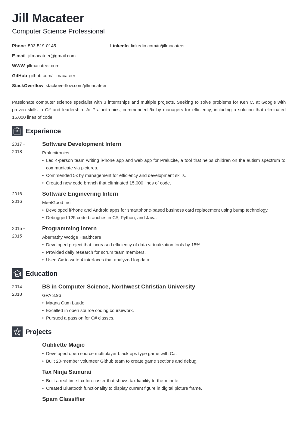 computer science template newcast uk