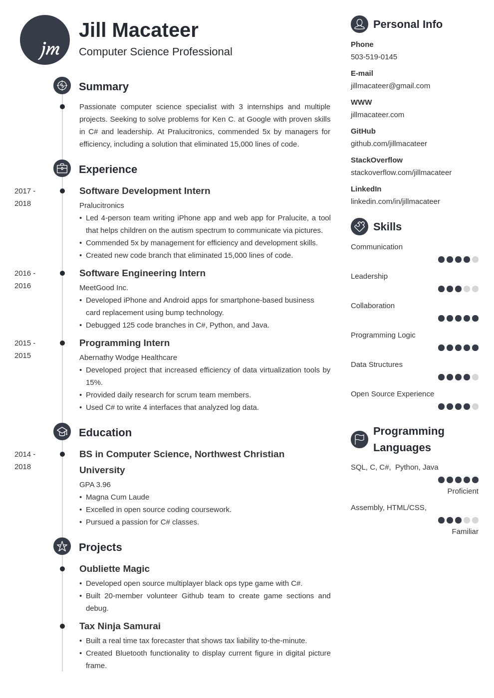 computer science template primo uk