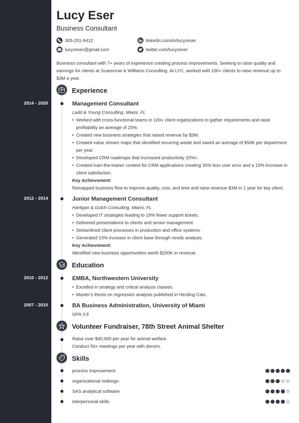 consultant template concept