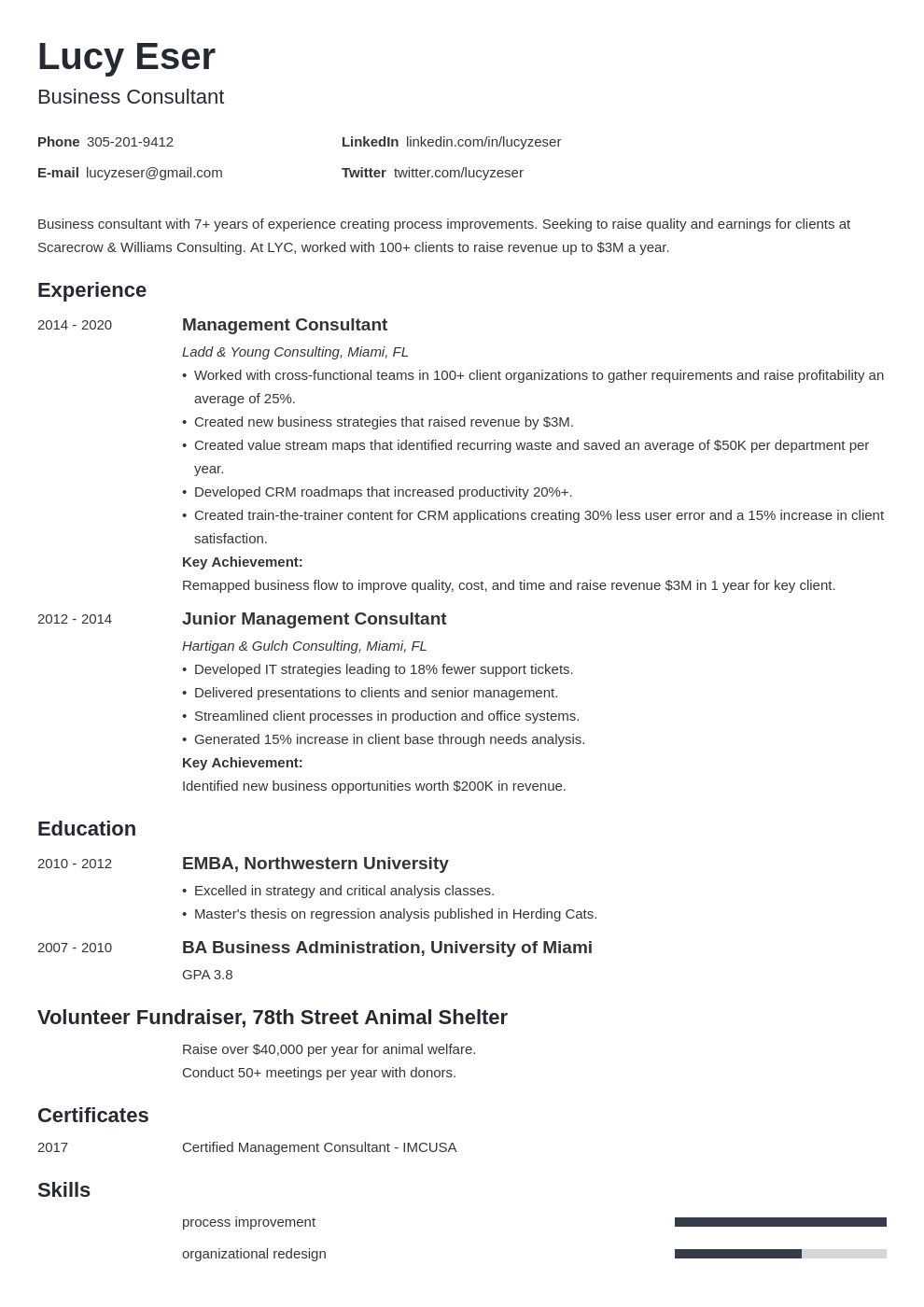 consultant template minimo uk