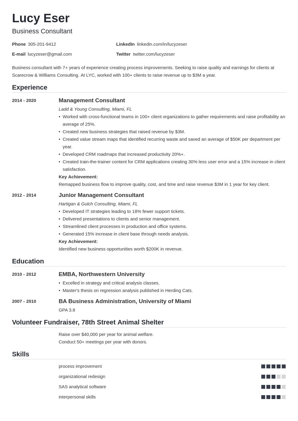 consultant template nanica uk