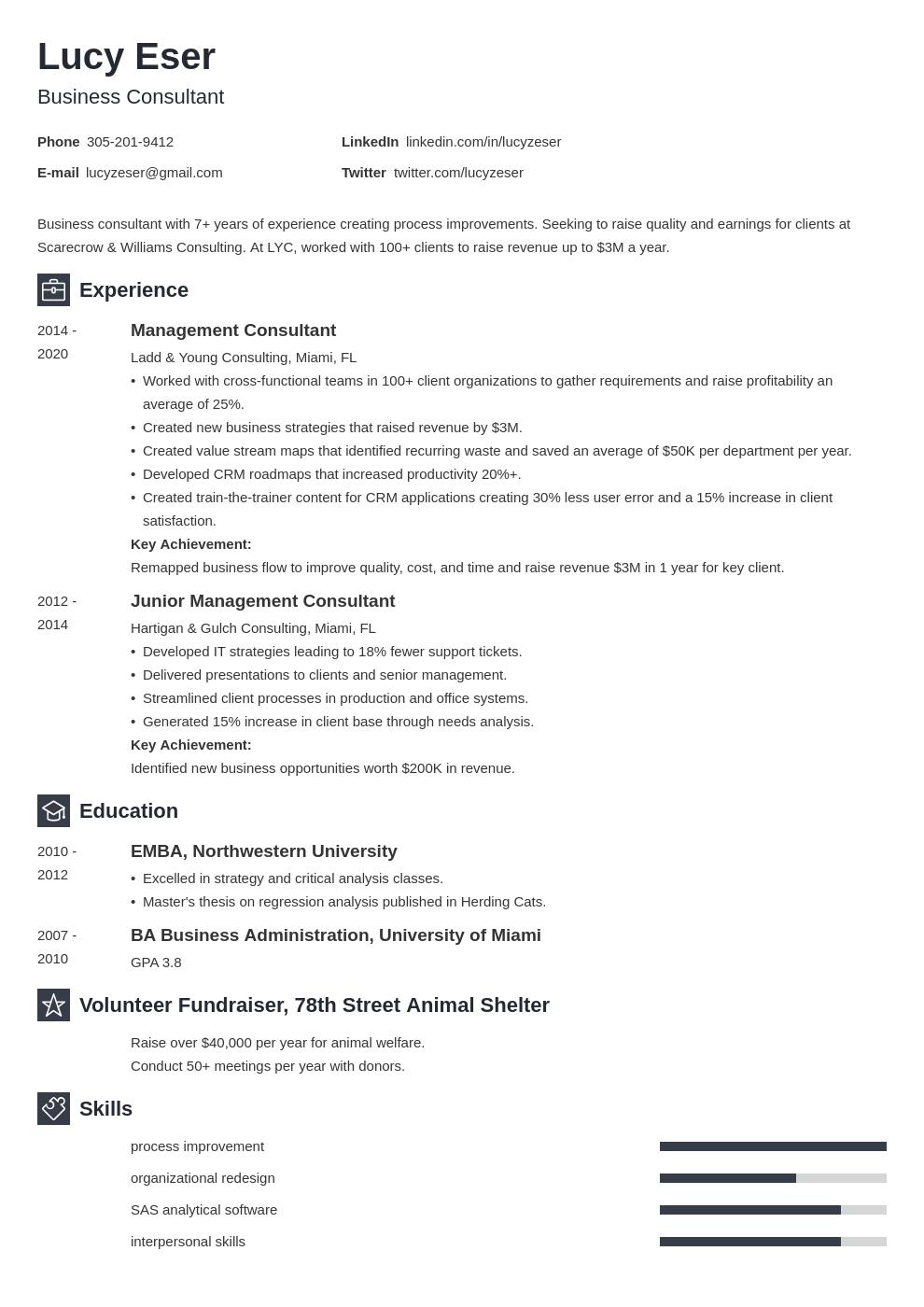 consultant template newcast uk