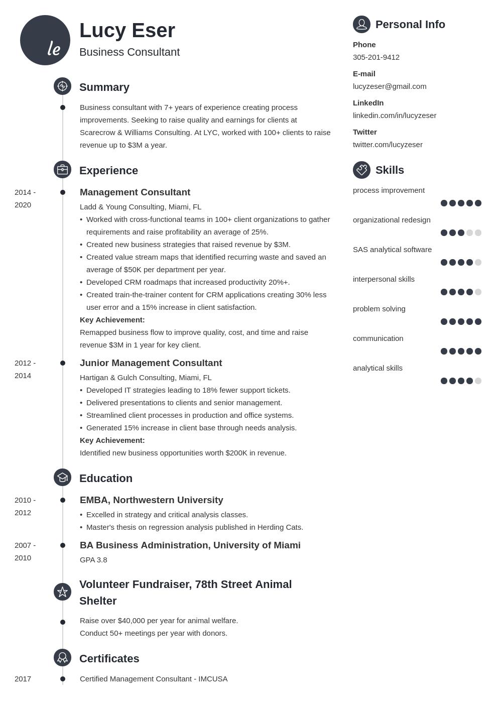 consultant template primo