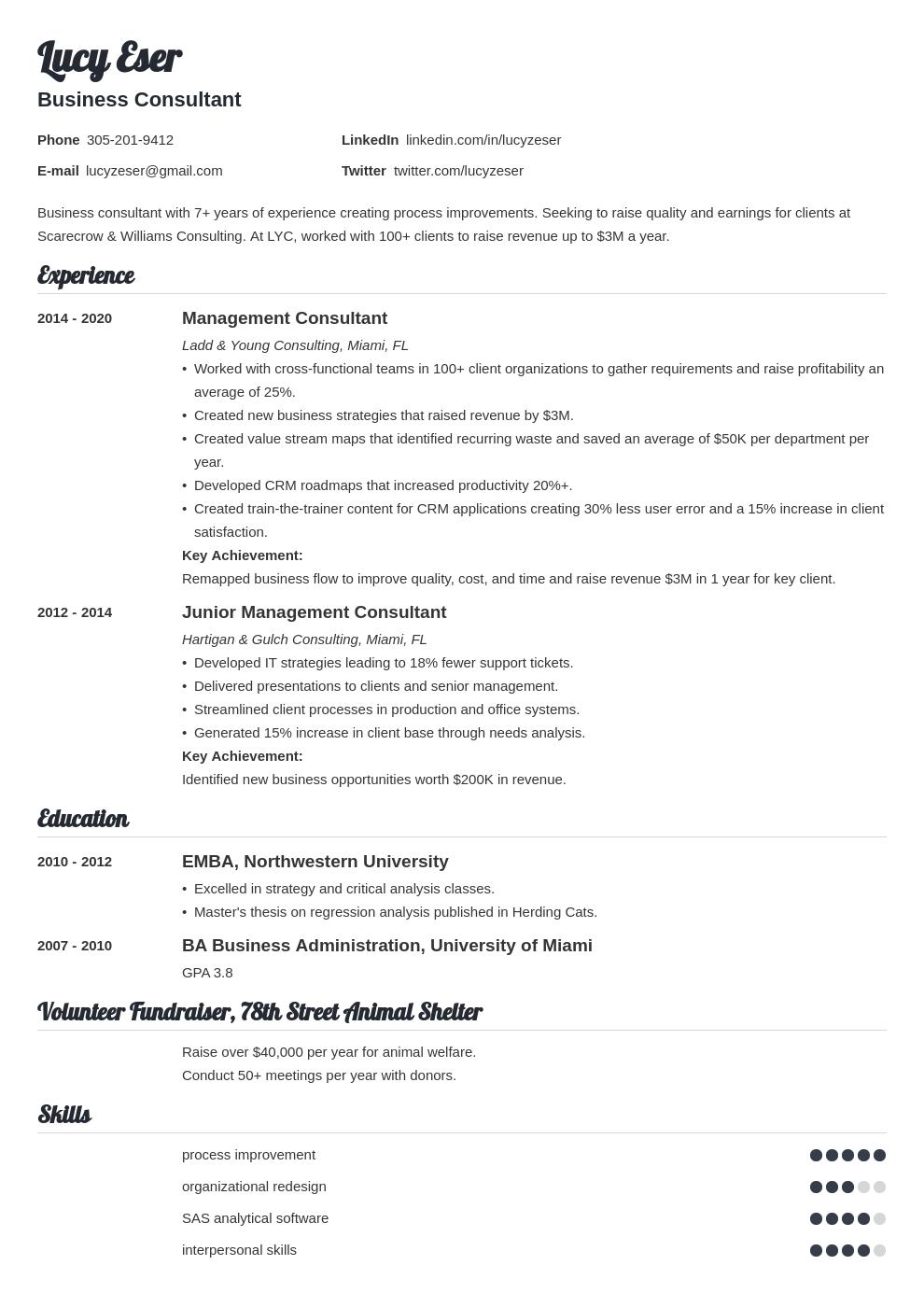 consultant template valera uk