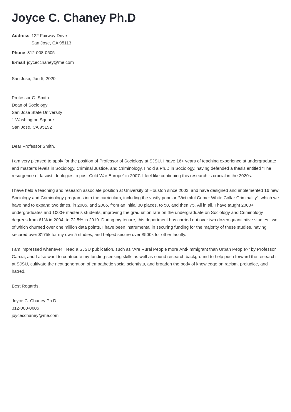 cover letter examples academic template minimo