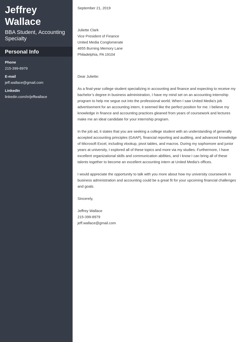 cover letter examples accounting template cascade
