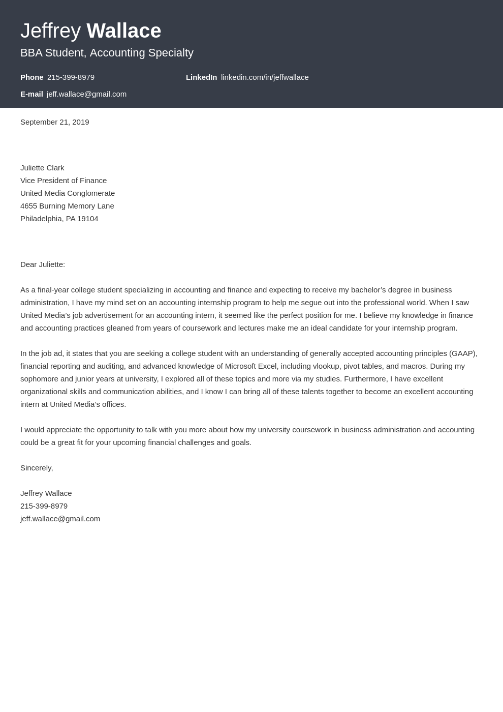 cover letter examples accounting template diamond