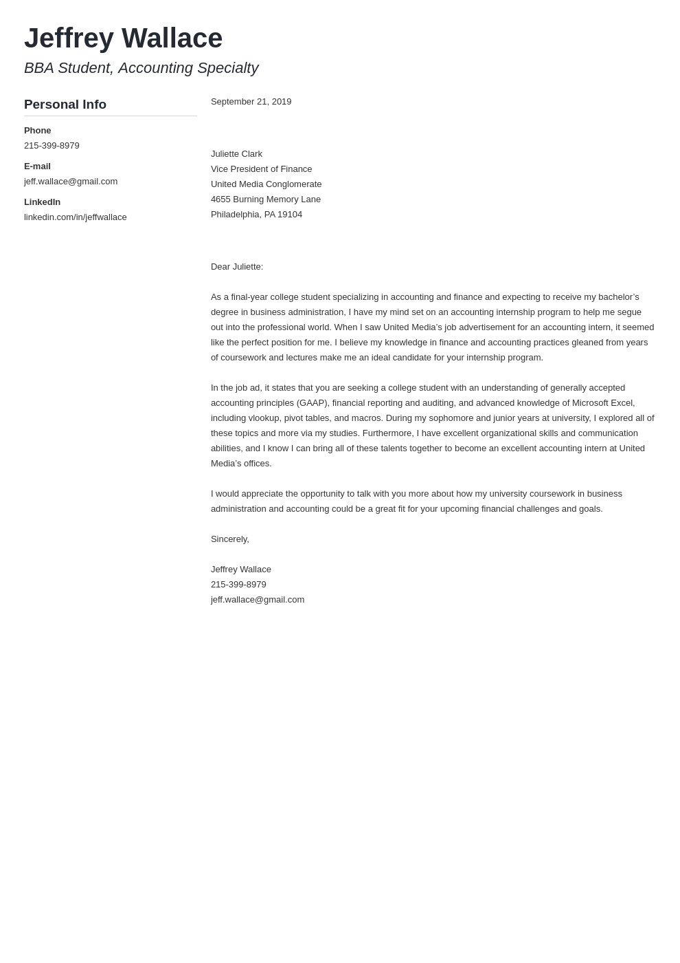 cover letter examples accounting template muse