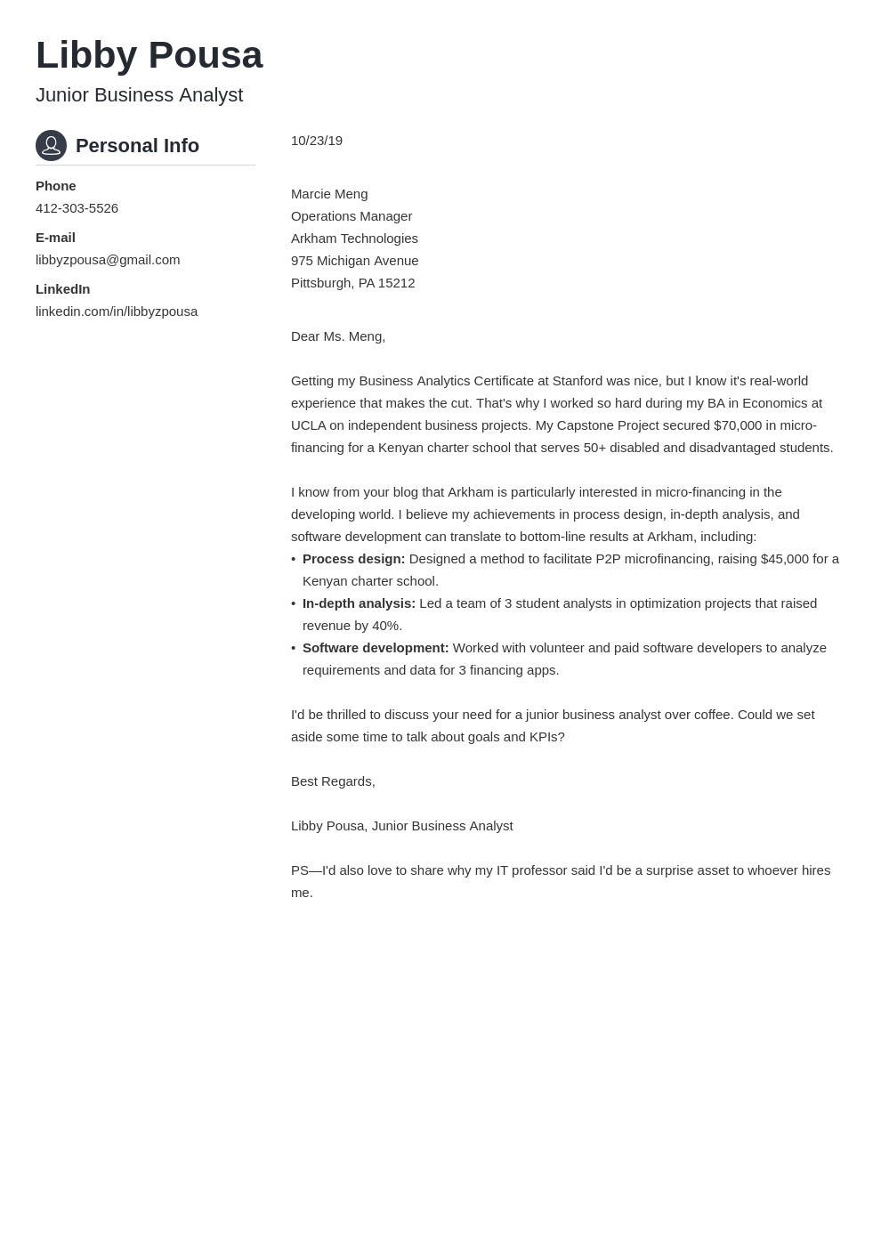 cover letter examples business analyst template crisp