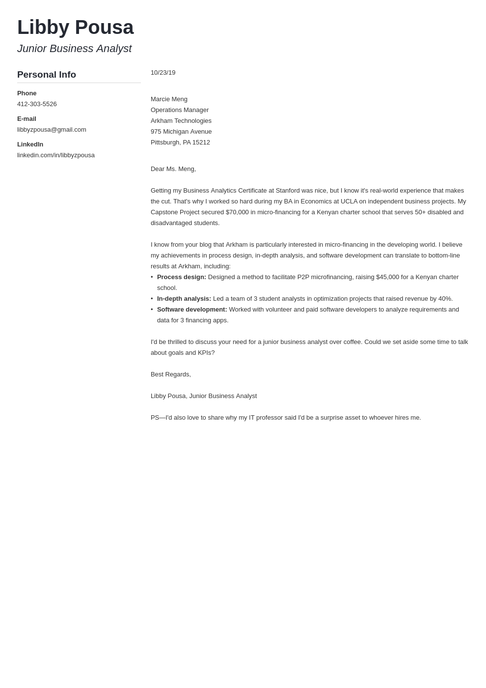 cover letter examples business analyst template muse