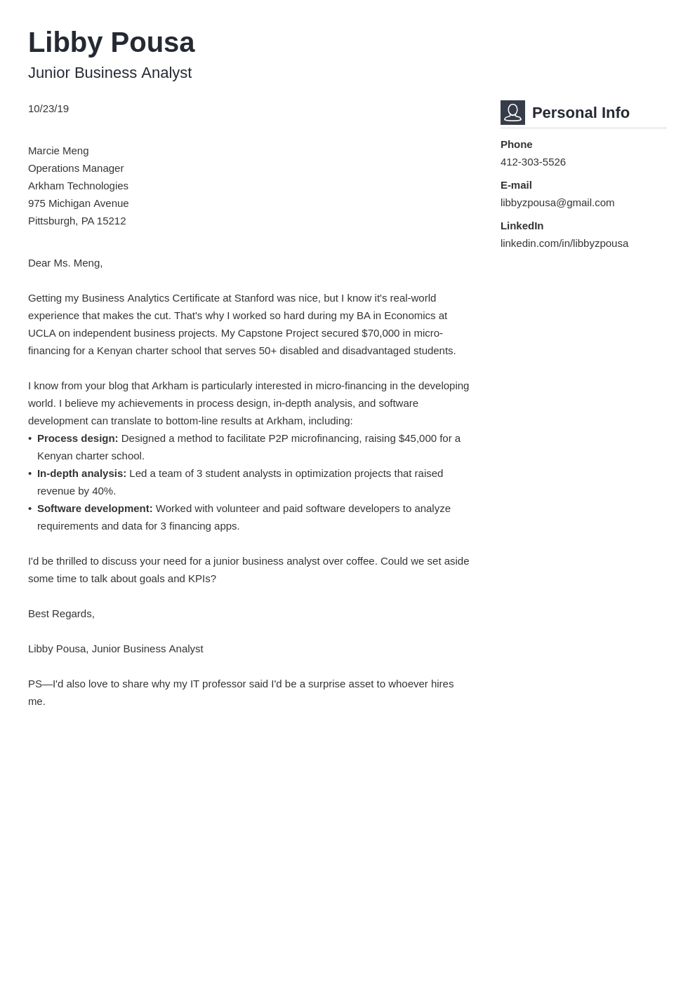 cover letter examples business analyst template vibes