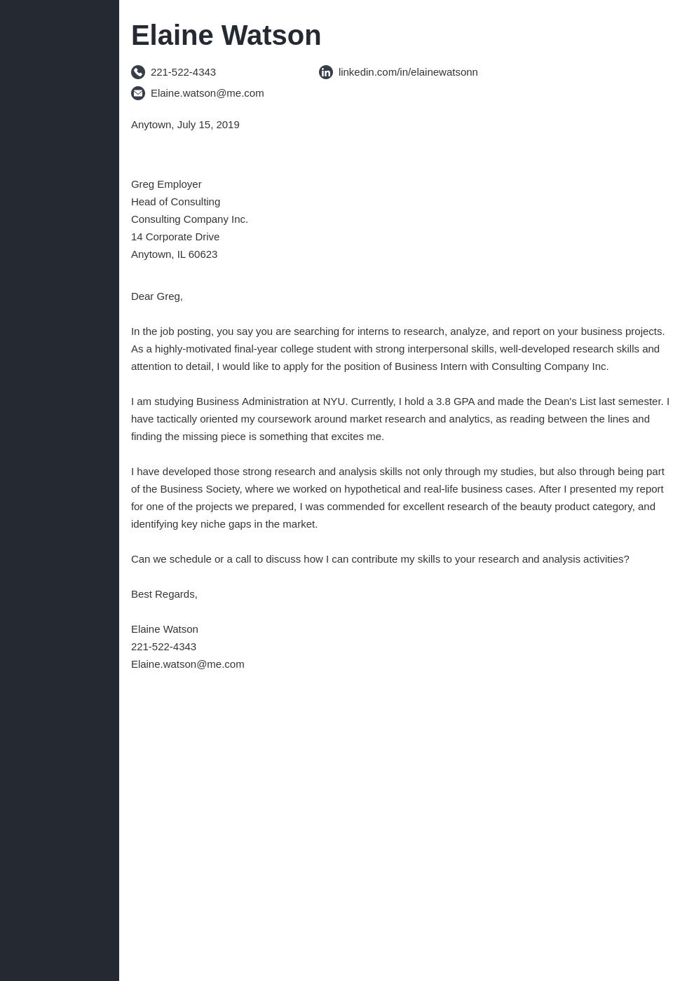 cover letter examples business template concept uk