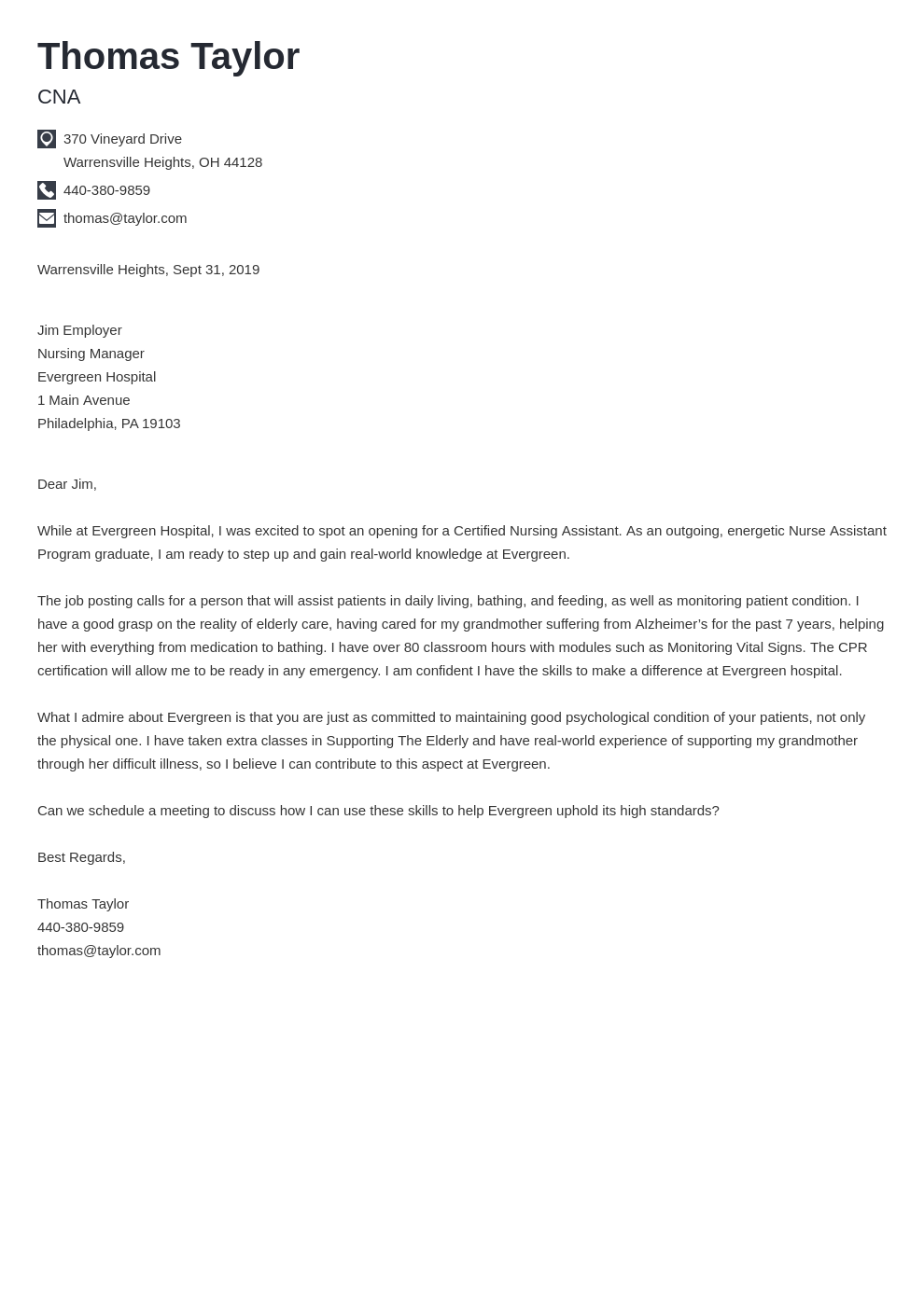 cover letter examples cna template iconic
