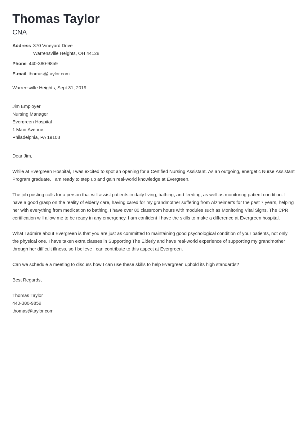 cover letter examples cna template nanica
