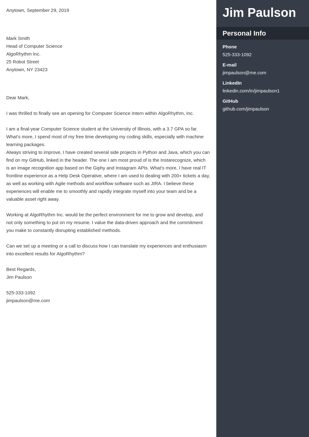 cover letter examples computer science template enfold