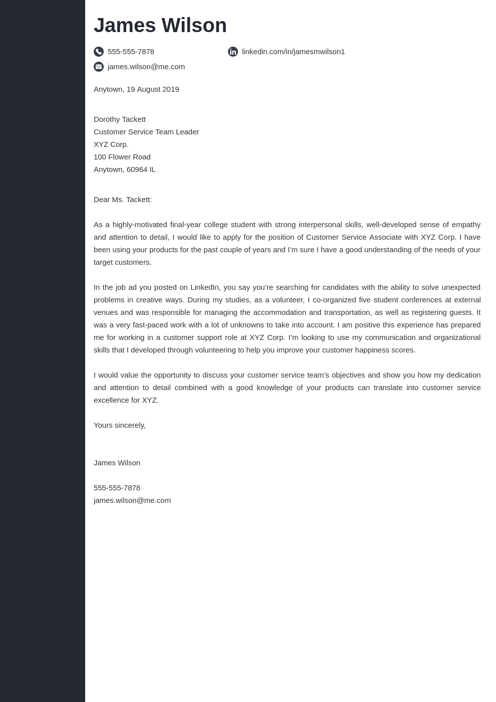 cover letter examples customer service template concept