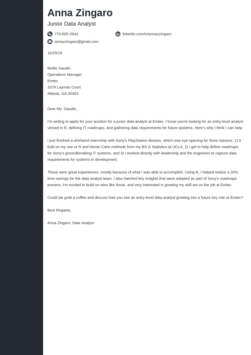 cover letter examples data analyst template concept uk