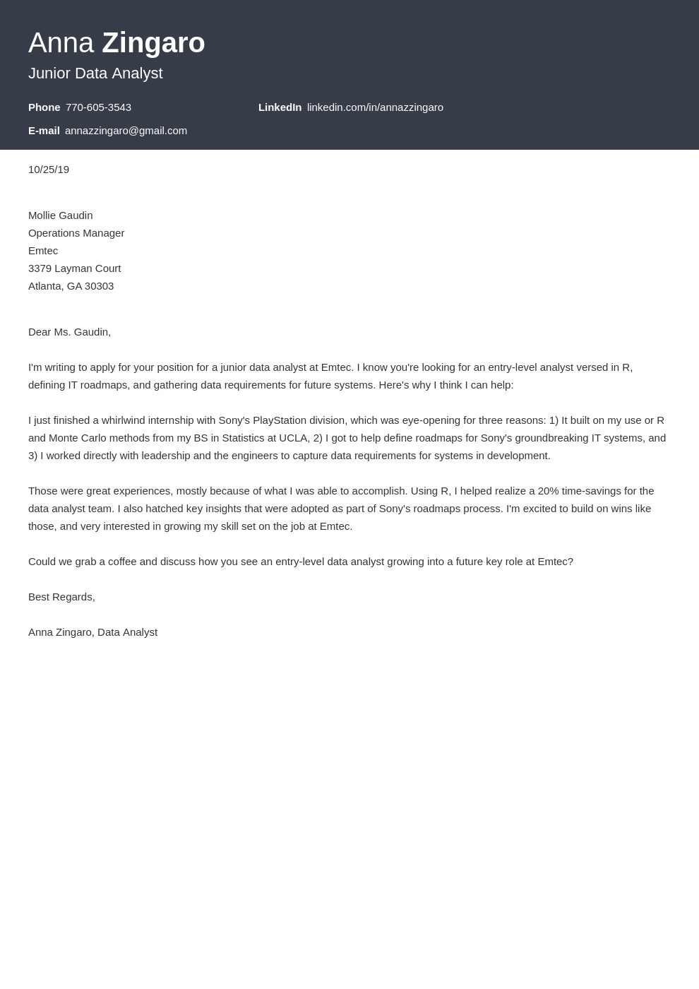 Data Analyst Cover Letter Examples Ready To Use Templates