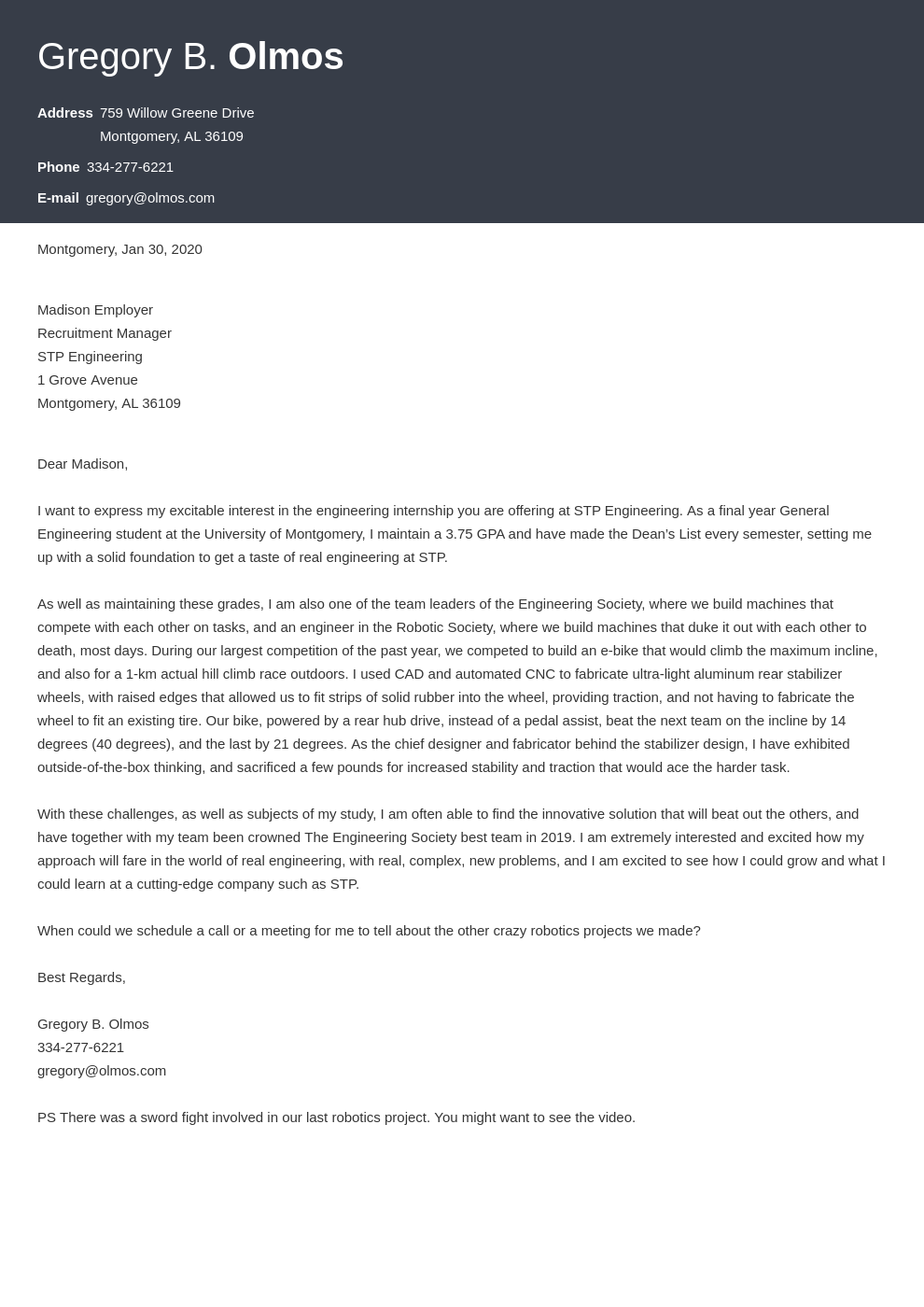 cover letter examples engineering internship template influx