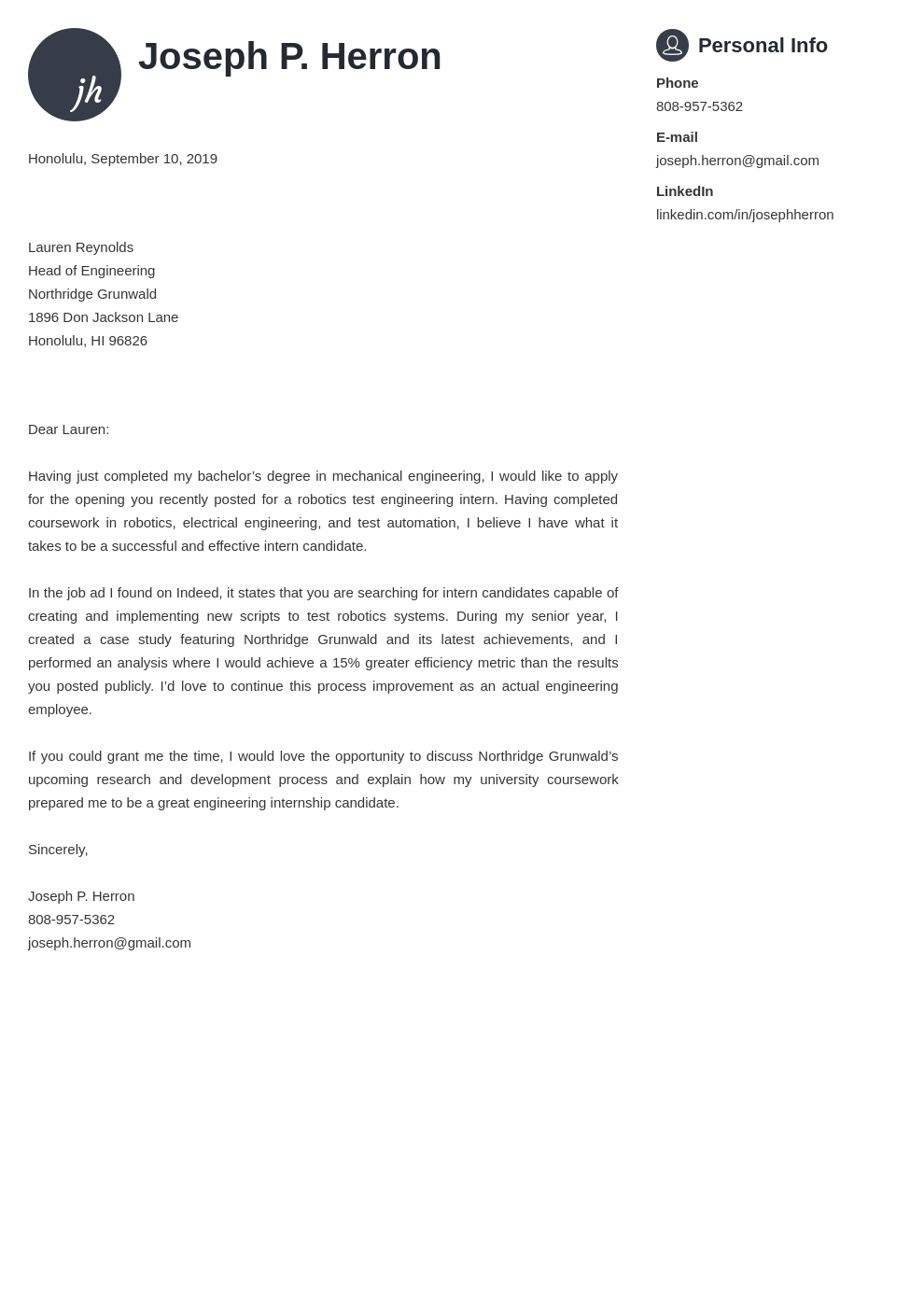 cover letter examples engineering template primo