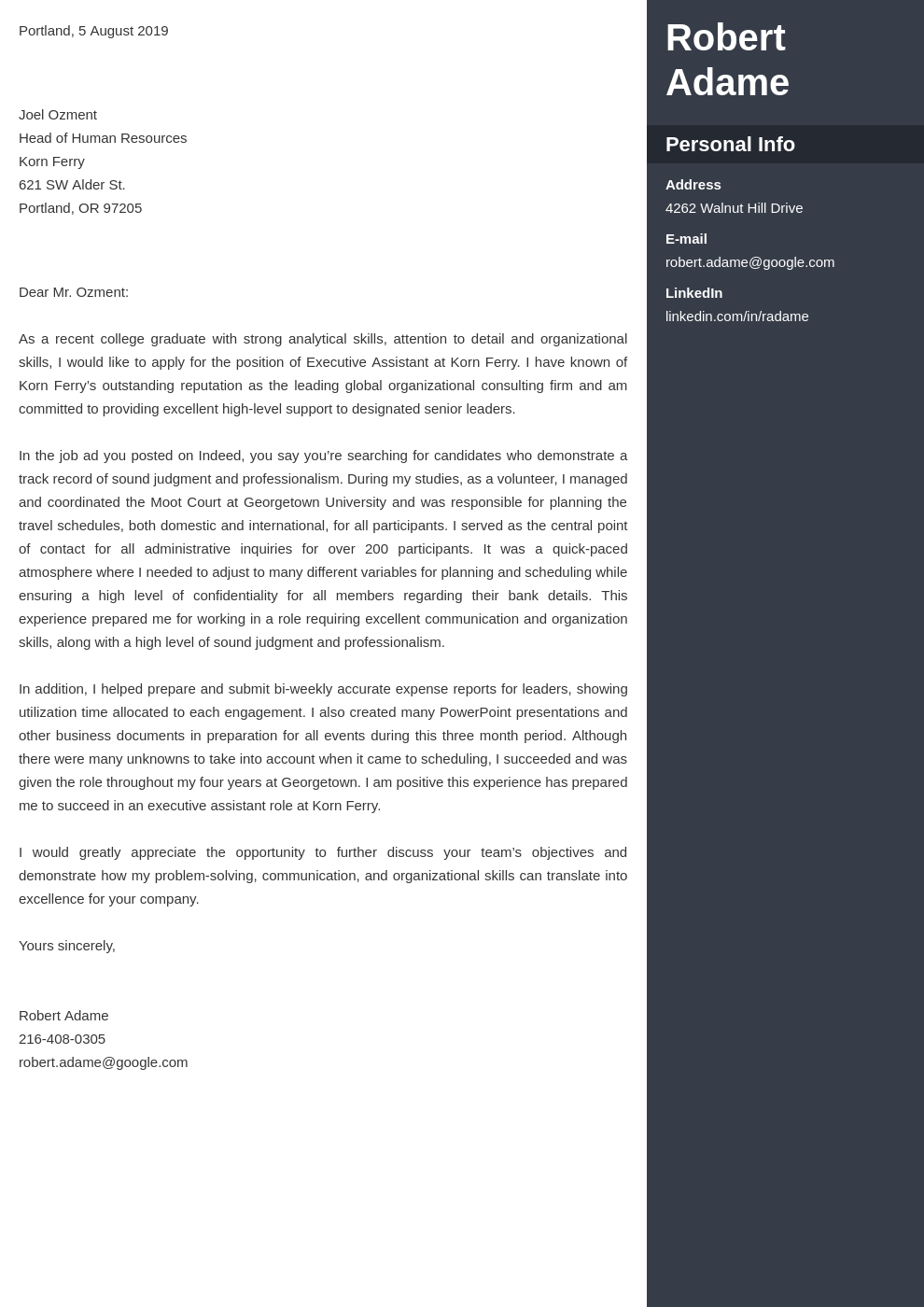 cover letter examples executive assistant template enfold