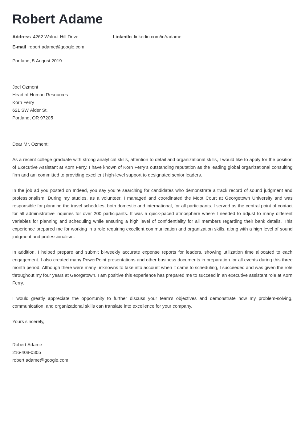 cover letter examples executive assistant template valera