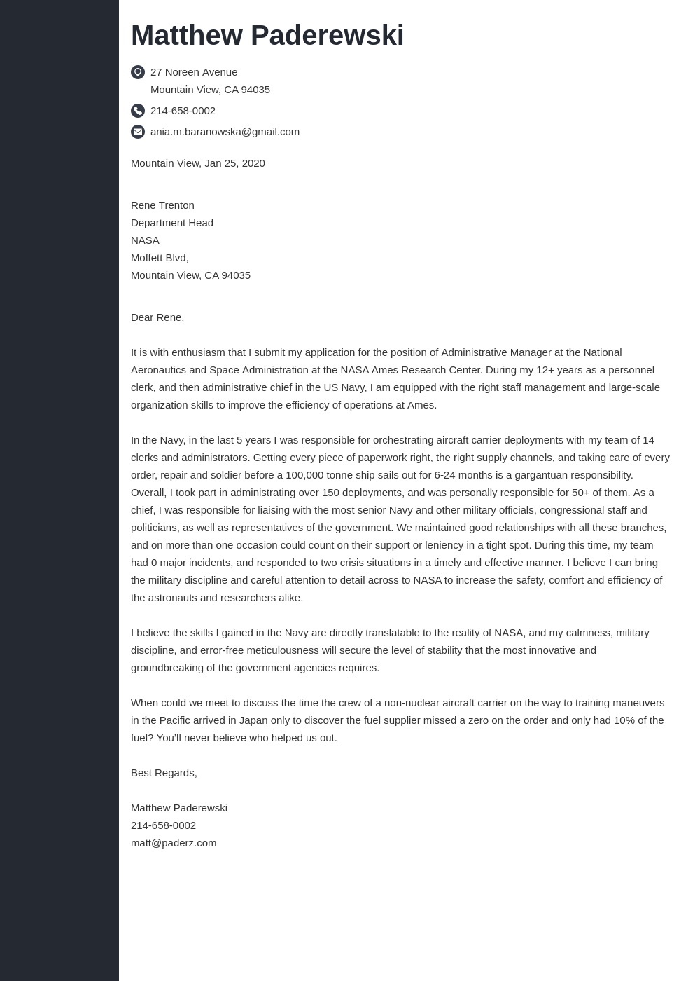cover letter examples federal template concept