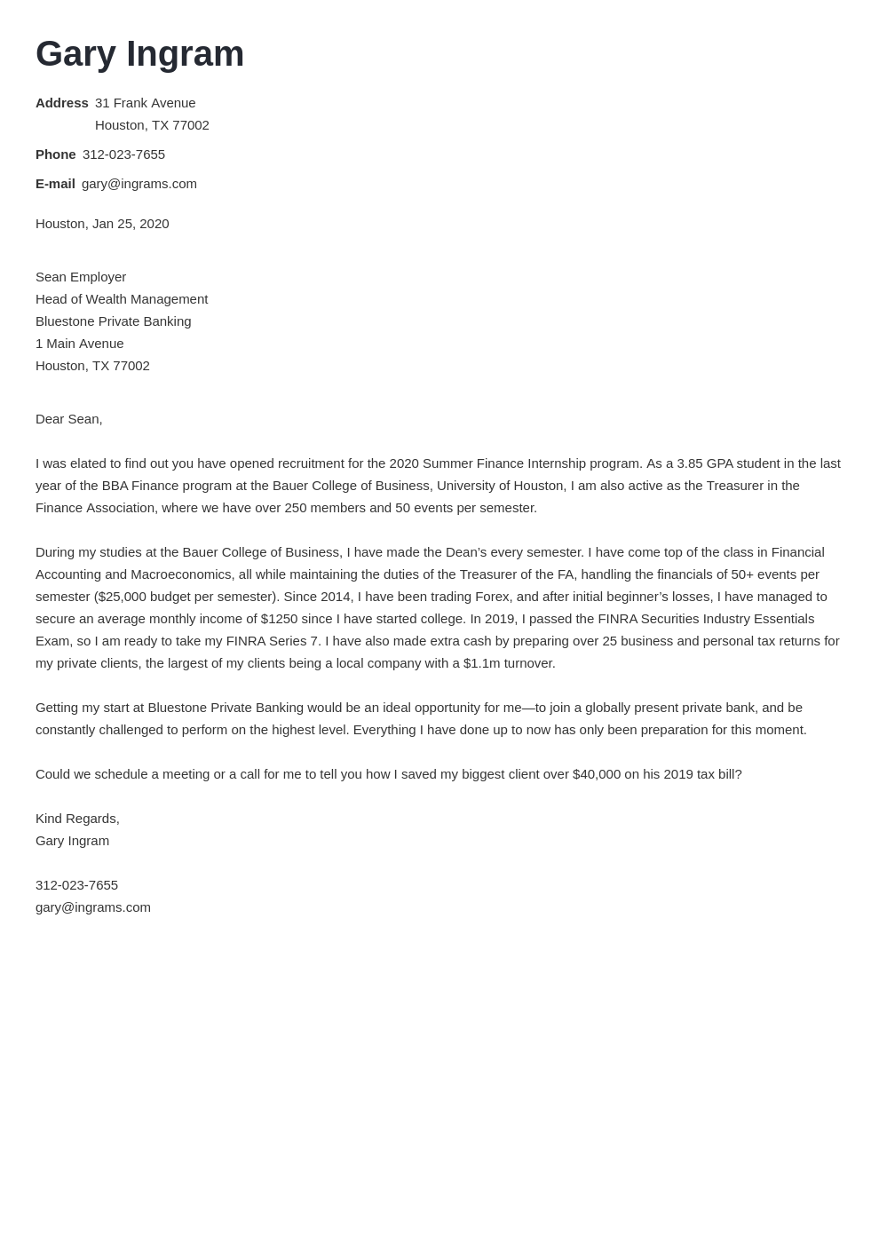 cover letter examples finance template nanica