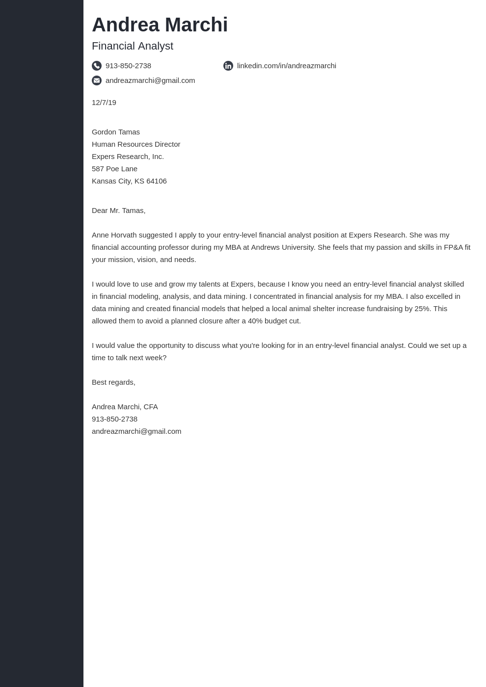 cover letter examples financial analyst template concept uk