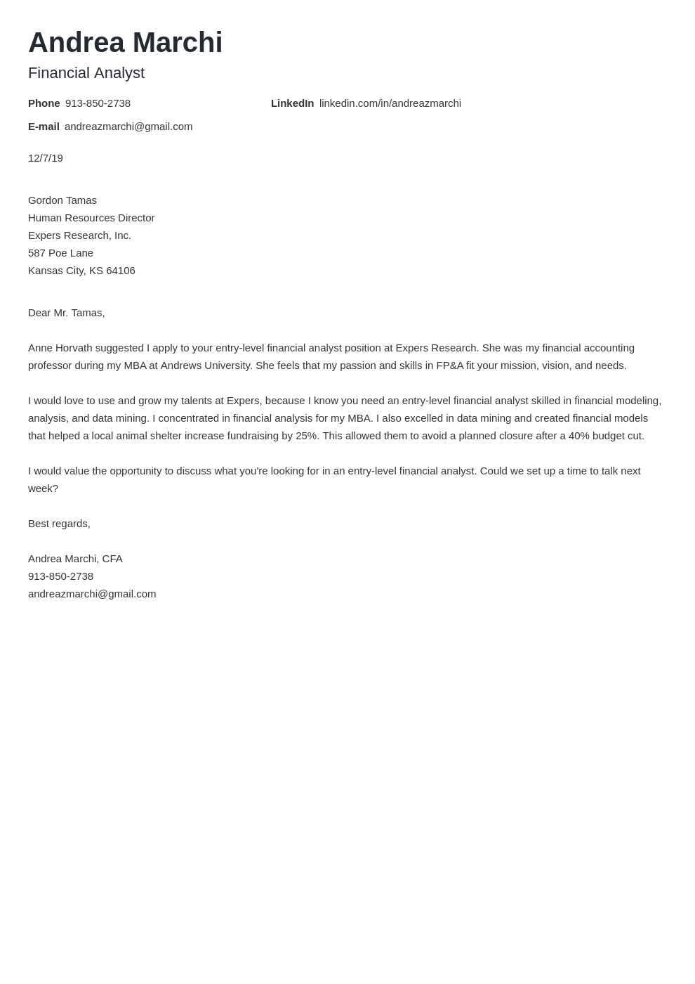 cover letter examples financial analyst template nanica