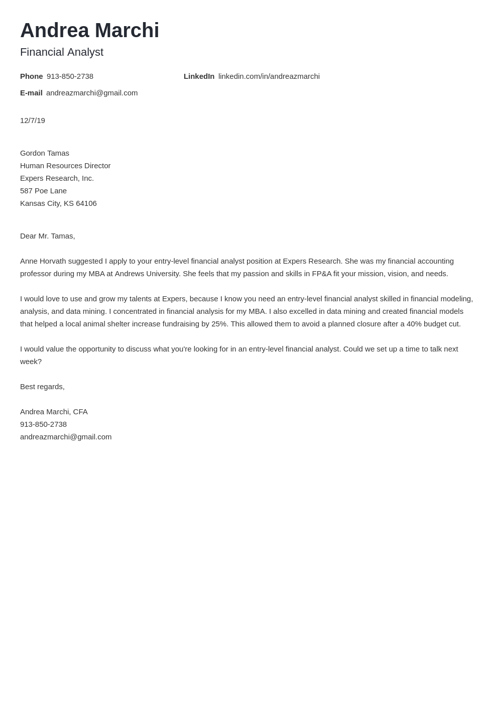 cover letter examples financial analyst template newcast
