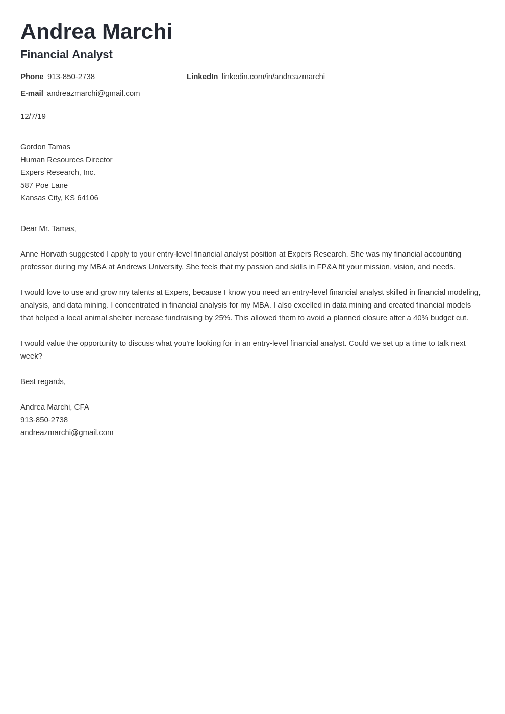 cover letter examples financial analyst template valera