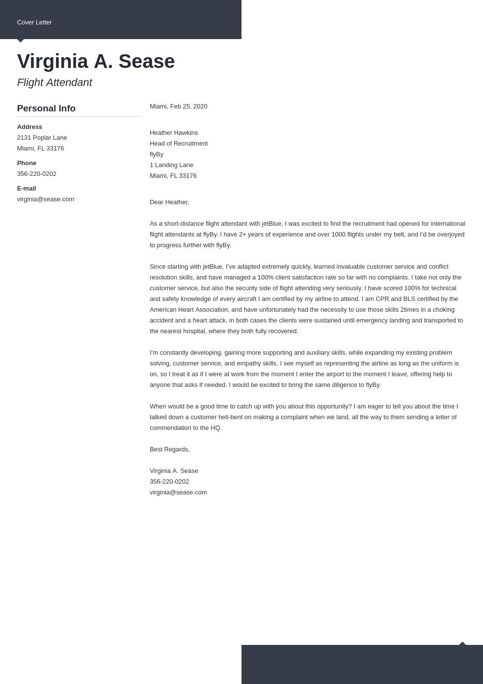 cover letter examples flight attendant template modern