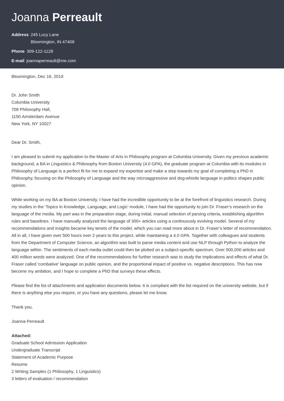 cover letter examples graduate school template diamond uk