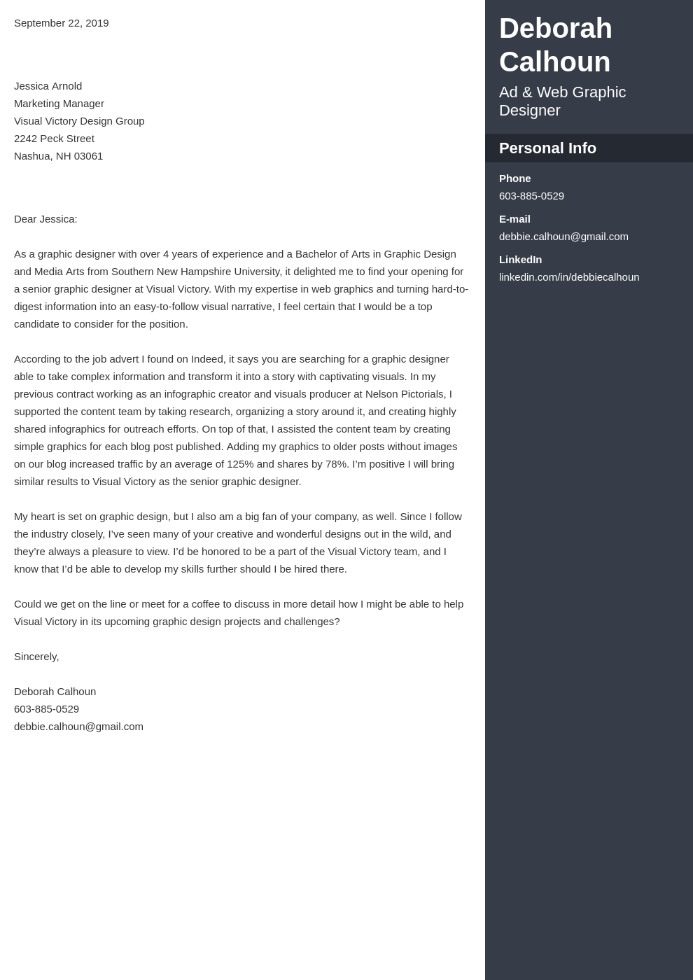 cover letter examples graphic design template enfold