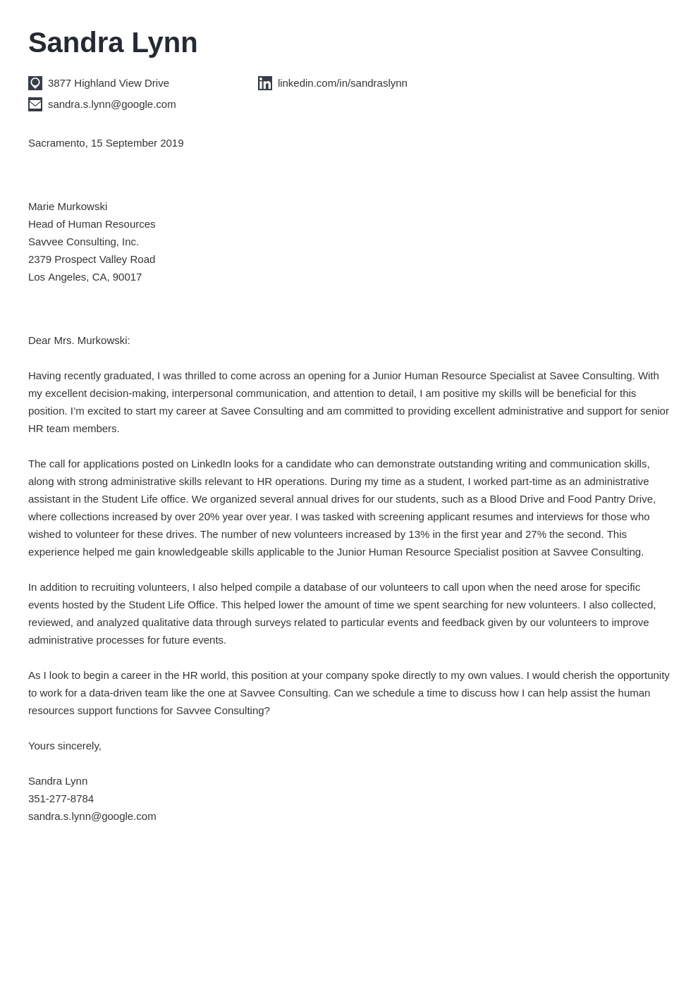 cover letter examples human resources template iconic