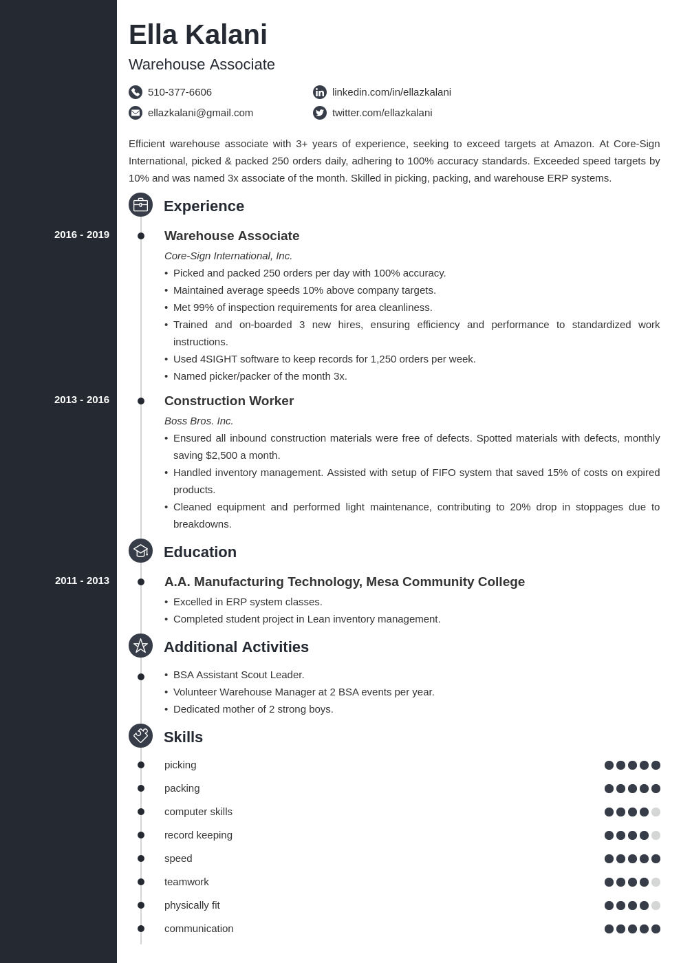 cover letter examples internal position template concept